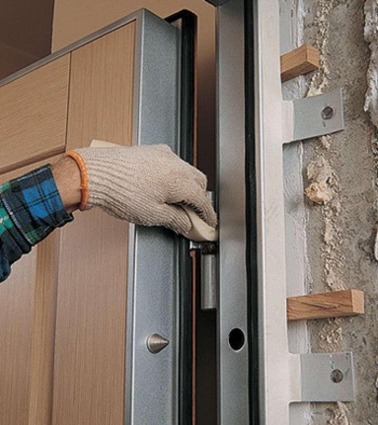 установка мет двери своими руками